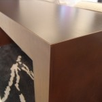 Pacific Beacon Metal/Wood End Table detail