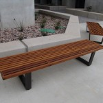 Stainless and Teak Benches