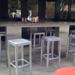 Concrete and Stainless Dining Table