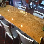 UCSD Glass and Stainless Dining Table